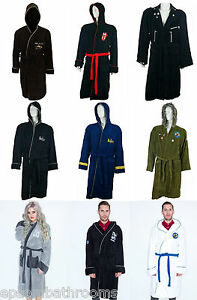 Image is loading Unisex-Adult-Bathrobe-Dressing-Gown-Soft-Fleece-Officially- 30439297a