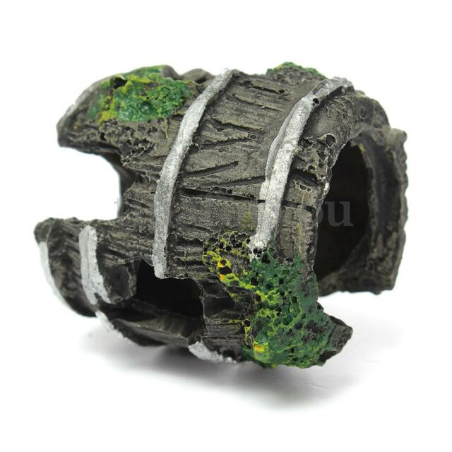 Fish Tank Aquarium Barrel Resin Ornament Cave Landscaping Decor About 3.5 x 5cm