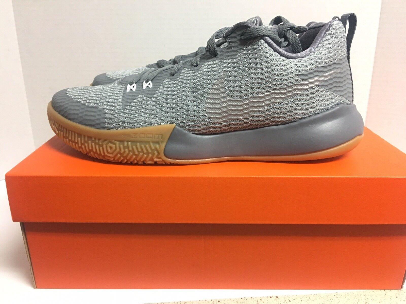 Nike Zoom Live II Cool Grey   Gum Mens Basketball shoes Ah7566-002 Size 10