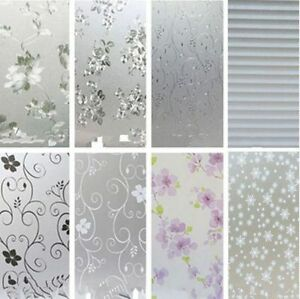 45x200cm-Frosted-Privacy-Glass-Film-Chic-Home-Door-Window-Flower-Sticker-Decor
