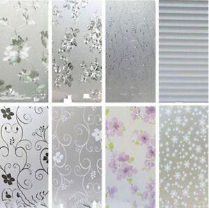 Bathroom Window Film | Bedroom Bathroom Window Home Privacy Waterproof Frosted Glass Film