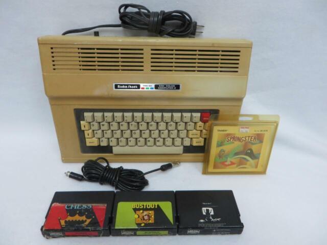 Radio Shack Tandy TRS-80 64K Color Computer 2 Bundle + 4 Games // Works Great!