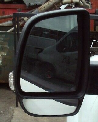 Left NS Nearside Passengers Side Black Manual Door Wing Mirror Unit