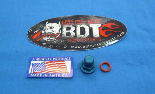 HONDA TRX 250R TRX250R BDT ENGINE CYLINDER HEAD BILLET ACORN NUT BLUE NEW QTY 1
