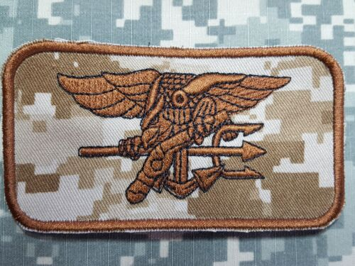 U.S NAVY SEALS Special Warfare morale nametag velcro patch Desert Digital