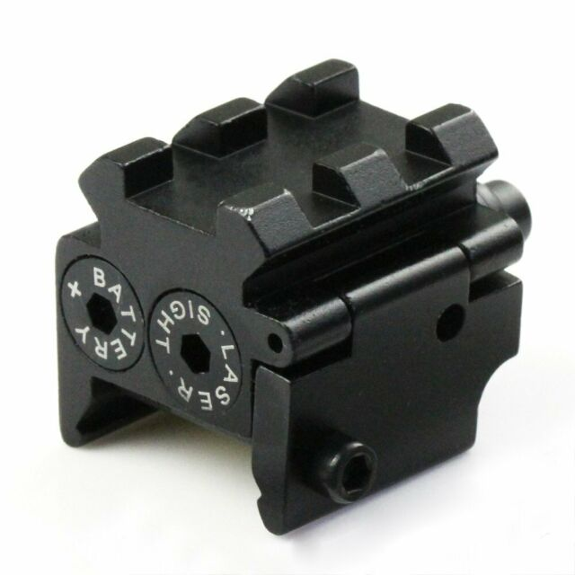Mini Tactical Pistol Red Dot Laser Sight Scope Weaver/Picatinny Rail Mount New