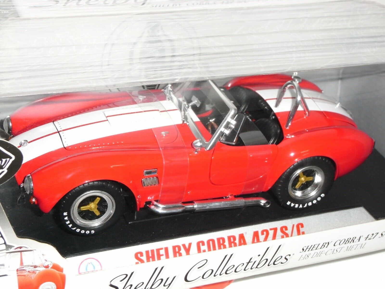 SHELBY COBRA 427 S C 1968  SHELBY COLLECTIBLES rouge 1 18 RAREZA