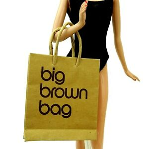 Barbie Accessoire Marron Bloomingdales Paper Shopping Bag Donna Karan New-afficher Le Titre D'origine Facile à Lubrifier