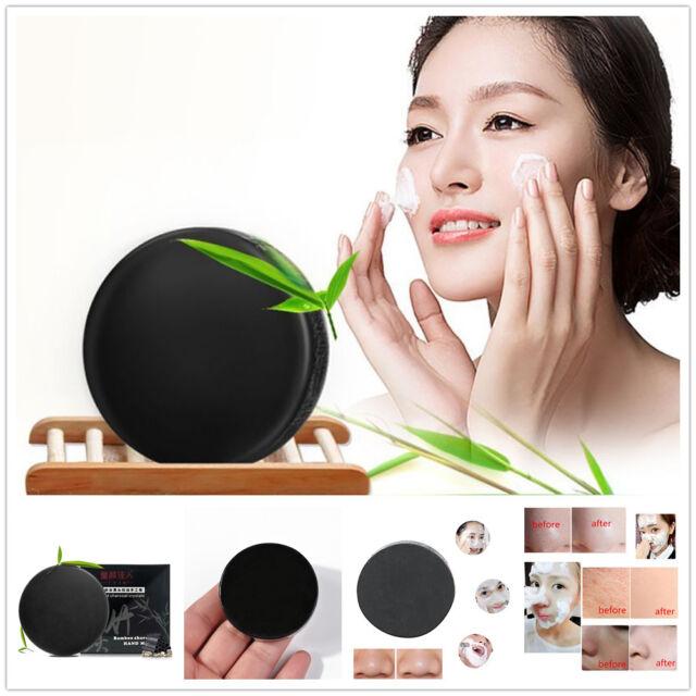 Face Oil-control Remove Blackhead Whitening Handmade Black Bamboo Charcoal Soap
