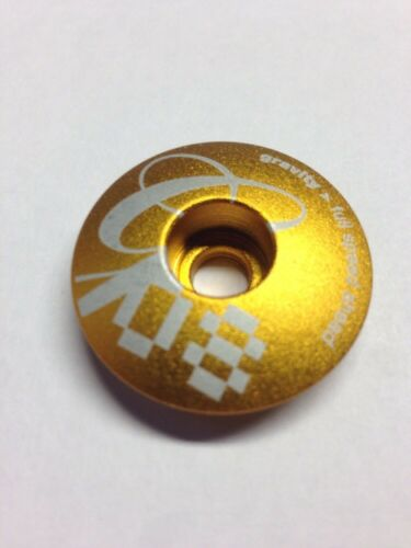FSA GOLD HEADSET CAP Gravity Race A MTB 1 1//8 inch Bike Bicycle Fast Delivery