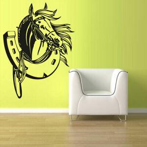Wall Decal Vinyl Sticker Decals Horse Head Animal (Z1332)