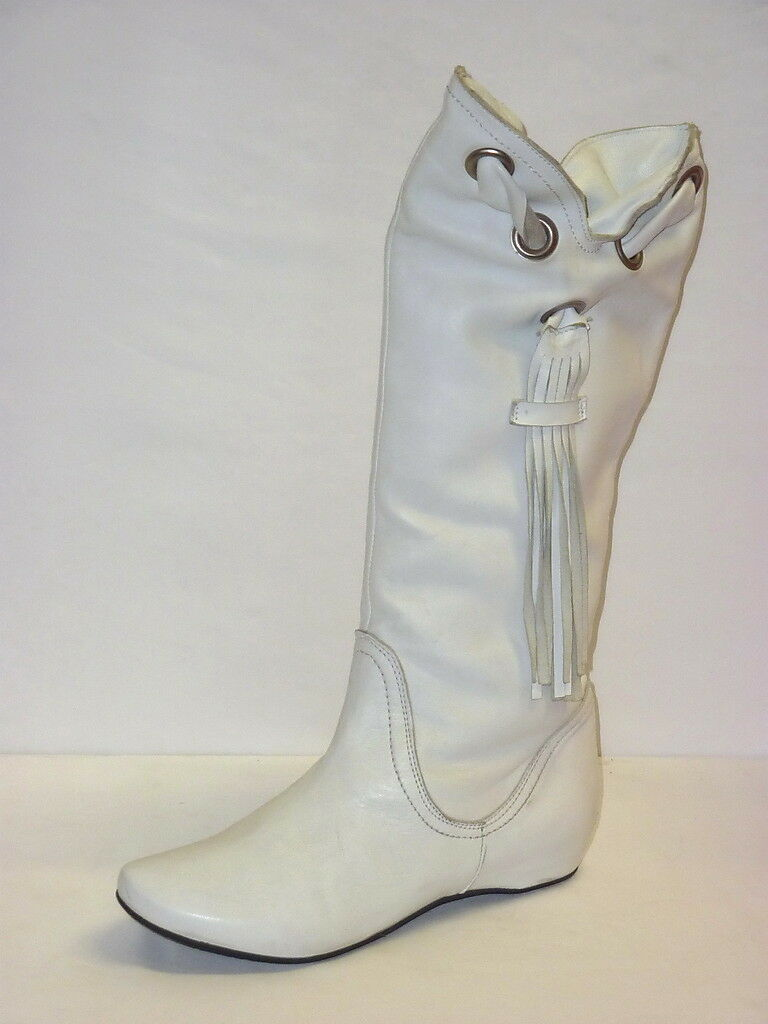 Bottes INDIANINI femmes chaussures STIVALETTI IN PELLE CouleurE BIANCO MODA  37