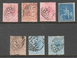 MAURITIUS-COLLECTION-LOT-x7-VALUES-UP-TO-43-EACH-YOU-IDENTIFY-AND-GRADE