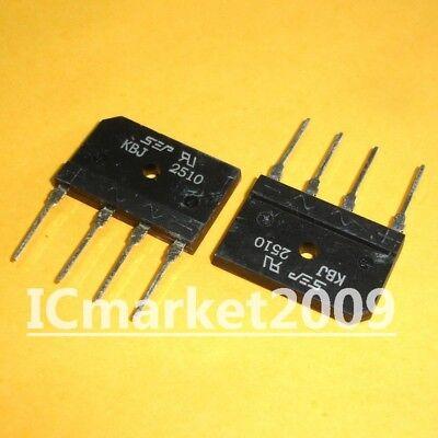 Puente rectificador de la 25A de KBJ2510 rectificador 1000V 2 piezas