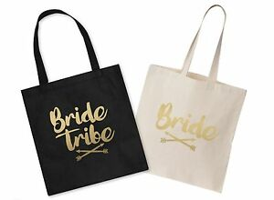 Image Is Loading Bride Tribe Wedding Canvas Tote Bag Bridal Shower