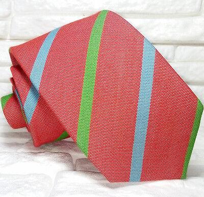 Cravatta Uomo Classica Made In Italy Seta E Lana Marca Regimental Rosso Bello A Colori