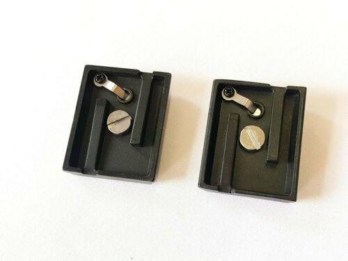 2 x adaptador Bilora placa de 3355-p para trípode 3350-p 3351-p 3215 nuevo