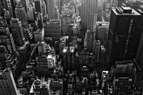 Framed Print Vintage New York Cityscape Skyline Picture Poster Art Big Apple