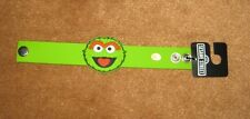 Sesame Street Oscar the Grouch Rubber Snap Bracelet One Size Fits Most Adults