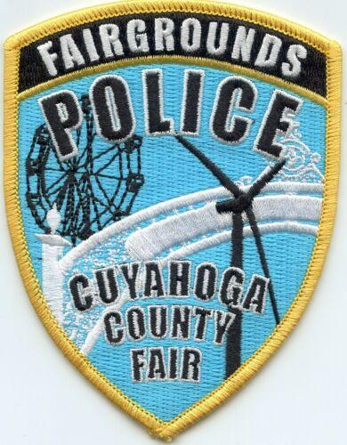 CUYAHOGA COUNTY OHIO OH FAIR FAIRGROUNDS POLICE PATCH