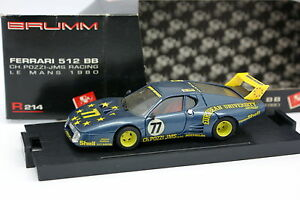 Brumm 1/43 - Ferrari 512 BB Le Mans 1980 N°77