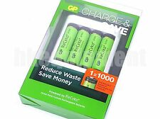 GP Recyko+ AA 2100 Rechargeable LSD NiMH 1.2v Battery x4 + USB Charger