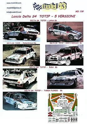 Decal TOTIP Rally 1986 LANCIA DELTA S4