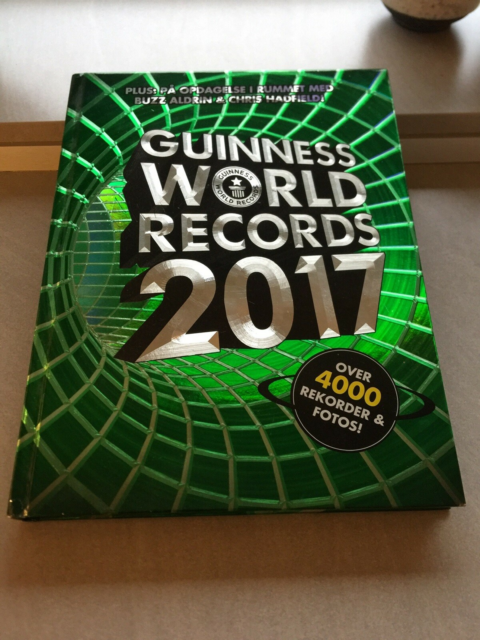 Guinness World rekords 2017, emne: hobby og sport, Som ny