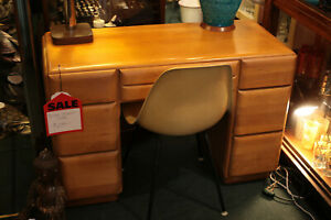 Conant-Ball-Russel-Wright-Desk-Mid-Century-Modern-Blonde-1950-039-s