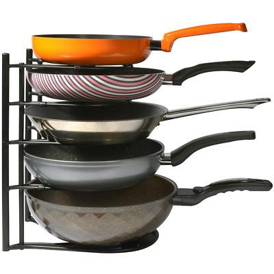 Pan Pot Lid Rack Organizer Heavy Duty, Kitchen Cabinet ...