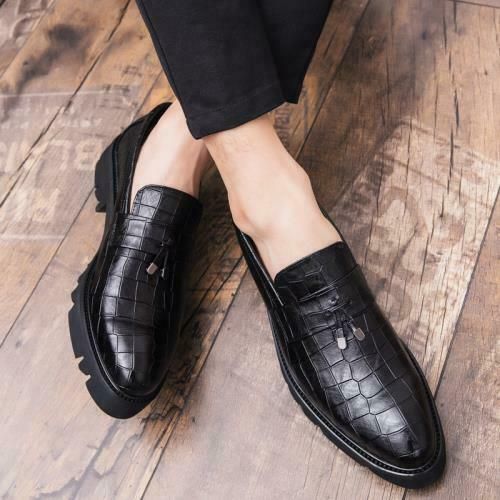 Details about  /Mens Low Top Faux Leather Shoes Business Pointy Toe Work Oxfords Slip on Party L