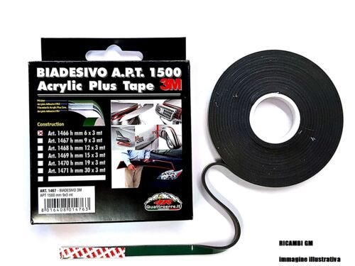 1468 Biadesivo 3M APT 1500 ACRYLIC PLUS TAPE 12 mm X 3 mt cod