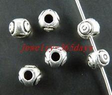 50pcs Tibetan Silver Bail Style Spacer Beads 5.5x4.5mm 5180