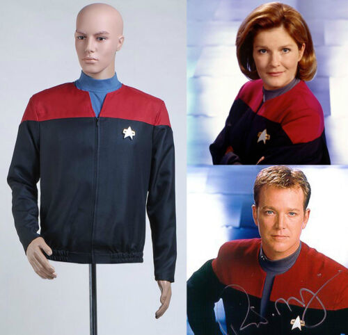 Star Trek Voyager Command Captain Cosplay Red Uniform Jacket Shirt Costume Suit
