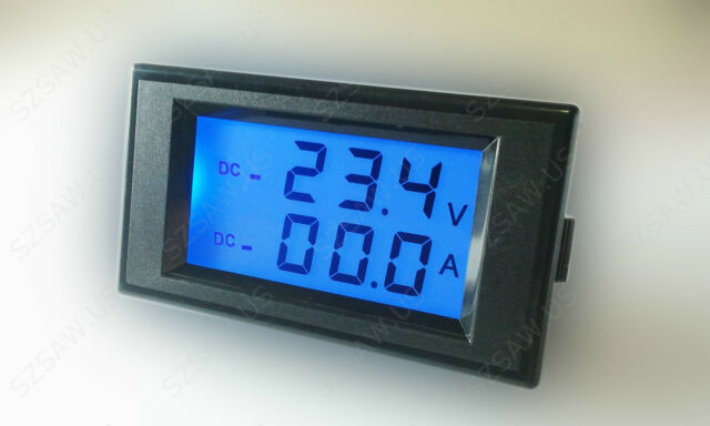 Battery Monitor DC 200V +/- 100A Voltage Amp Meter Charge Discharge Test 12V 24V