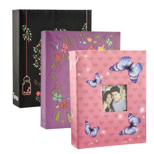 Álbum de fotos de 6 X 4 con 200 Bolsillos Negro, rosa o púrpura álbum