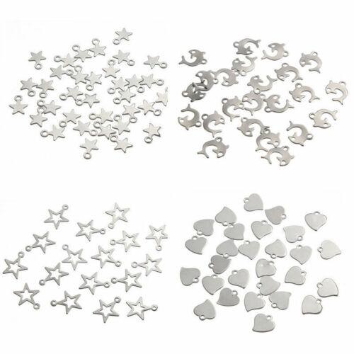 Acero inoxidable plata encanto perlas colgantes HAZLO TÚ MISMO Joyería Hallazgos haciendo Navidad Hazlo tú mismo
