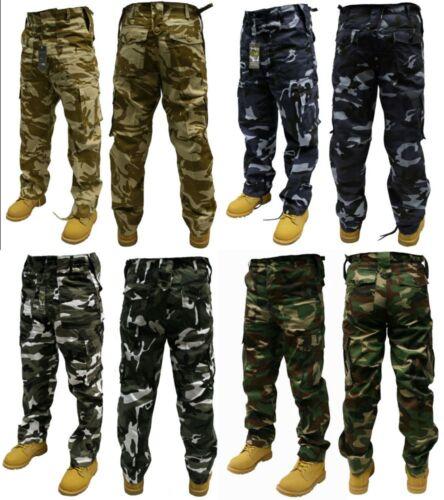 """Camouflage Pantalon Combat Woodland Desert Midnight Urban 30/"""" 50/"""" Taille 32/"""" /& 30/"""" jambe"""