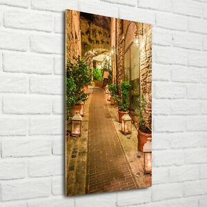 Wandbild-Kunst-Druck-auf-Hart-Glas-senkrecht-70x140-Umbrien-Italien