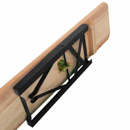 Gros 3 pcs en bois pliable picnic Beer Table Banc Chevalets Patio Extérieur PUB
