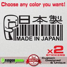 Made in Japan Voiture Autocollant Vinyle Autocollant Mazda Nissan Honda Toyota Suzuki Subaru