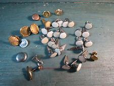 lot bijoux anciens boutons de manchettes  ,fix ,plaqué or vieux bijou old jewel