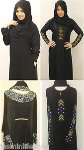Femmes-Diamonte-Designer-Abaya-Jilbab-Hijab-Burqa-Caftan-Musulmane-Islamique