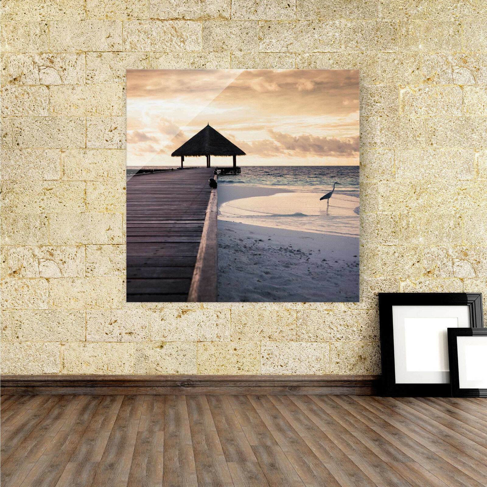 Acrylbild Acryl Glas Bild Wandbild Plexiglas Meer Natur Romantik Strand Meer