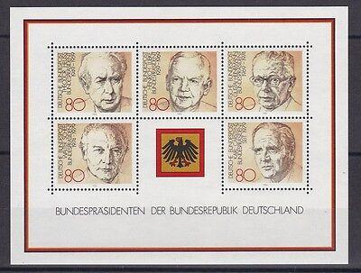 Brd 1982 Postfrisch Minr. Block 18 Bundespräsidenten Der Brd Nachfrage üBer Dem Angebot