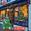 REGNO-Unito-Bambini-Feltro-per-Albero-di-Natale-con-Decorazioni-Natale-Fai-Da-Te-Porta-Muro-Appeso miniatura 1