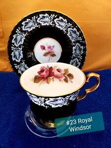 Royal Windsor Fine Bone China Teacup And Saucer Set.  Made In England