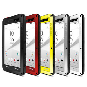 new product 7b3ac bbafd Details about LOVE MEI Dust Shock Waterproof Metal Case Glass Cover For  SONY Xperia Z5 Premium