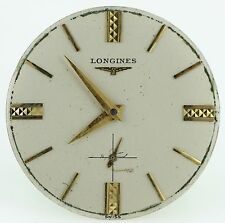 VINTAGE LONGINES HAND WIND MOVEMENT WITH DIAL RUNNING FOR PARTS OR REPAIRS 29MM