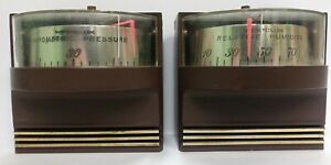 Vintage-1967-Westclox-Weather-Mates-Barometer-amp-Relative-Humidity-Devices-Gauges